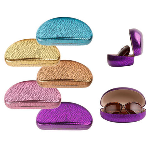Assorted Package 12 Sunglasses Case Shimming Carrying Case for Glasses Eyewear
