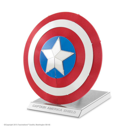Metal Earth 3D Laser Cut Steel Model Kit Marvel Capitain America's Shield Gift