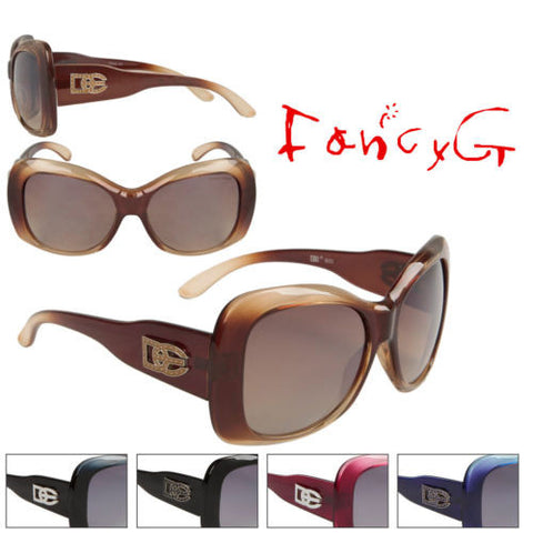 12 Assorted Women Fashion Sunglasses DE Duotone Over sized UV 400 Protection