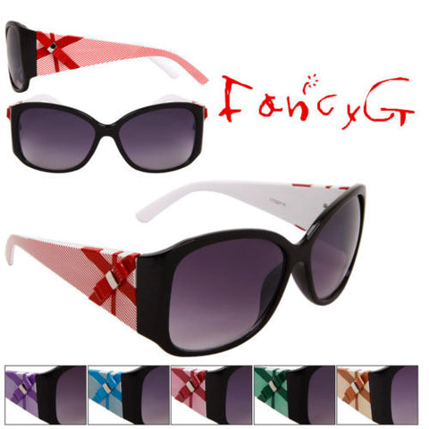 12 Assorted Unisex Fashion Sunglasses Bow Style UV 400 Protection