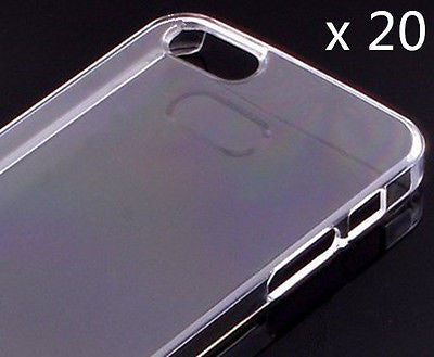 20 x iPhone 4S Case Crystal Clear Hard Plastic Snap On Case Cover High Qualtiy