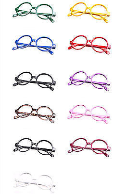 Classic Vintage Round Wizard Costume Nerdy Glasses Frames NO LENS Spectacle Wear