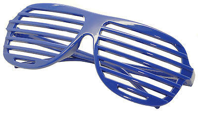 Large Size Neon Party Rave EDM EDC Eyewear Shades Adult Glasses Frame Blue