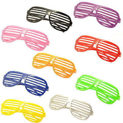 9PC Large Size Neon Party Rave EDM EDC Eyewear Shades Adult Glasses Frame Set1