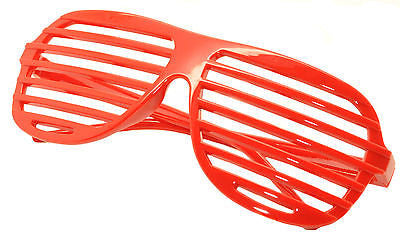 Large Size Neon Party Rave EDM EDC Eyewear Shades Adult Glasses Frame Red