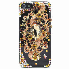 Handmade Luxury Bling Jewelled Rhinestone Diamond Crystal Hard Case iPhone SE 5S