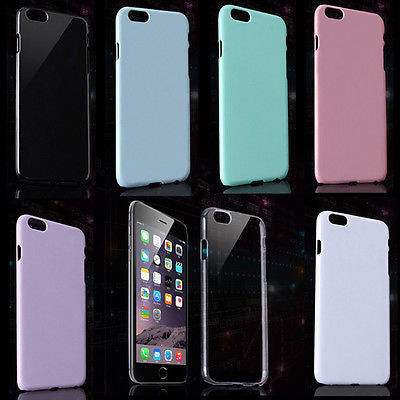 Set of 7 pcs Plain Decoration Cases for iPhone 6 Plus DIY Protection Cover 5.5in
