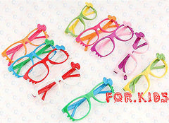 Super Cute Costume Glass Frames for Kids NO LENS Cat Eye Whisker Bowknot Cosplay