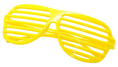 Large Size Neon Party Rave EDM EDC Eyewear Shades Adult Glasses Frame Yellow