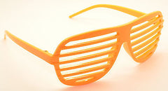 Large Size Neon Party Rave EDM EDC Eyewear Shades Adult Glasses Frame Orange