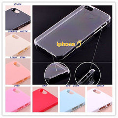 Plain Decoration Cases for iPhone 6 5 4 DIY Part Protection Color Cover Quality