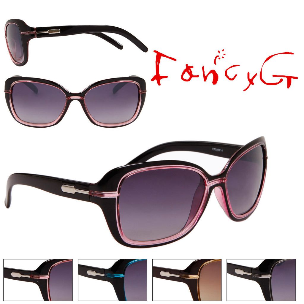Women's Fashion Sunglasses Slim Style Classic Look Assorted Package of 12