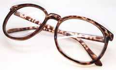 Oversized Retro Vintage Inspired Classic Nerd Clear Lens Round Shape Glasses Frame Eyewear