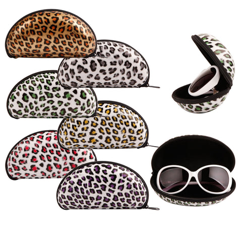 High Quality Double Sided Protuberance Style Zipper Closure Soft Sunglasses Carrying Cases