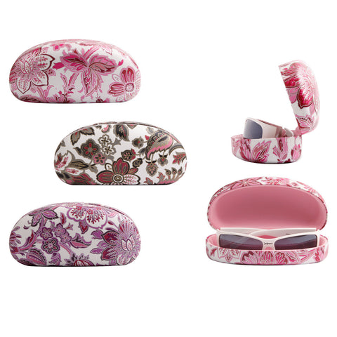 High Quality Colored Sunglasses Carrying Cases with Beautiful Flowers Patterns