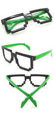 Cool Fun Party Style Fashion 8 Bit Pixel Glasses Frame Eyewear