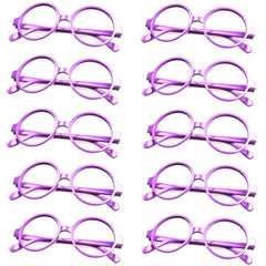 Lot of 10 pcs Classic Geek Nerd Style No Lens Round Glasses Frame Costume Cosplay Eyewear