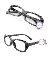 Classic Fashion Diamond Cut Style Glasses Frame Eyewear No Lens