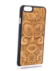 Wood Tribal Mask Phone case - Phone Cover - Phone accessories