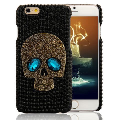 Handmade Crystal Skull Case For iPhone & Samsung Models