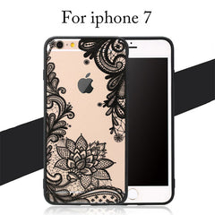 Sexy Lace Floral Phone Cases For iPhone 7 6 6s Plus Funda Retro Paisley Flower Cover For Samsung Galaxy S7 S6 edge S8 Plus Case