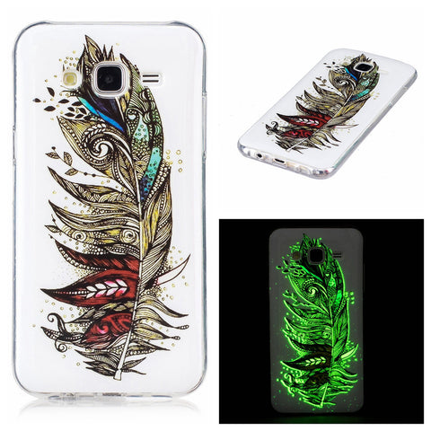 A3 A5 Luminous Case Ultra thin TPU Cover For Samsung Galaxy J3 J5 J7 Funda Embossed Glow Light Phone Cases For Galaxy A3 A5