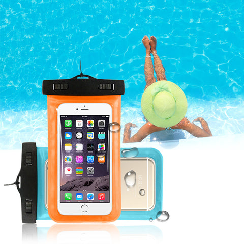 "Waterproof Bag Pouch Case For Iphone 5s SE 6 6s Plus Galaxy Huawei Xiaomi Universal 4.8""-6.0"" Smartphone Camera Diving Swim Bag"