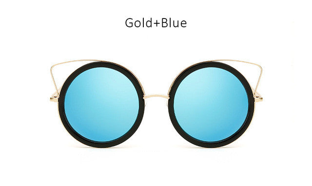 New Cute Girls Cat Eye Sunglasses Women Fashion Pink Coating Mirror Cateye Sun Glasses Ladies Female Vintage Eyewear UV400