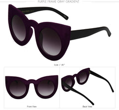 Fashion Sexy Round Cat Eye Sunglasses Plush personality Border Velvet Frame Sun Glasses For Women