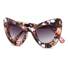 New Sexy Chunky Cat eye Sunglasses Oval Acetate Sun Shades Chic Lady