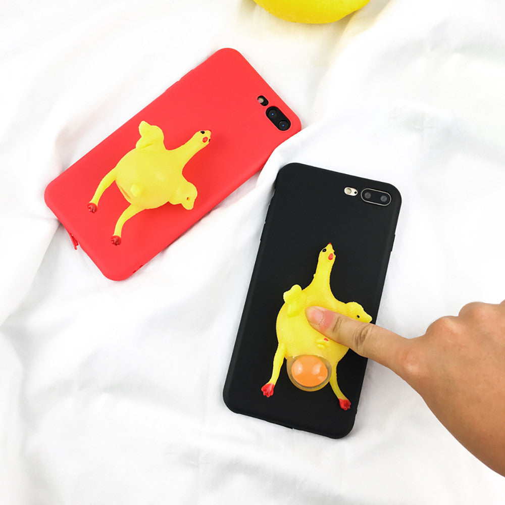 separation shoes 07caa e826f Funny 3D Cartoon Animal Phone Cases For iphone 7 6 6s Plus Case Soft TPU  Vent toy Squishy Squeeze Lay egg hen chicken Cover