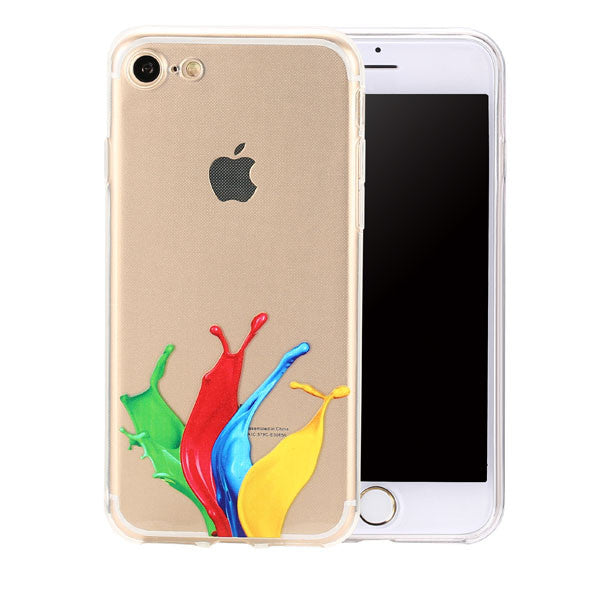 Fashion 3D Abstract Color Painting Phone Cases For iphone 7 6 6s Plus Case Ultra thin Slim Clear TPU GEL Back Cover