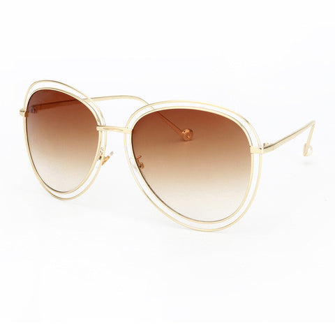 Designer Fashion Sunglasses  Oversized Frame Male Female Eyewear Eyewear UV400