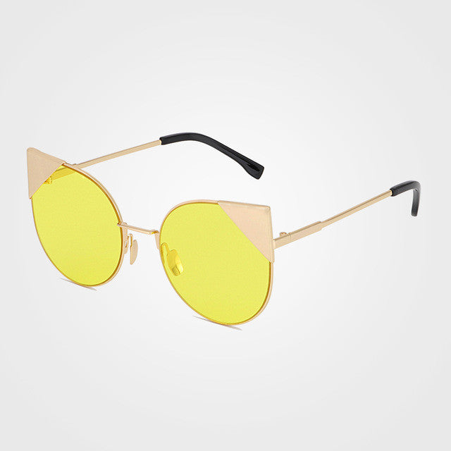 75a86d5c0f525 ... New Cat Eye Sunglasses Women Classic Summer Style Metal Frame Mirror  Sun Glasses Female Oculos UV400 ...