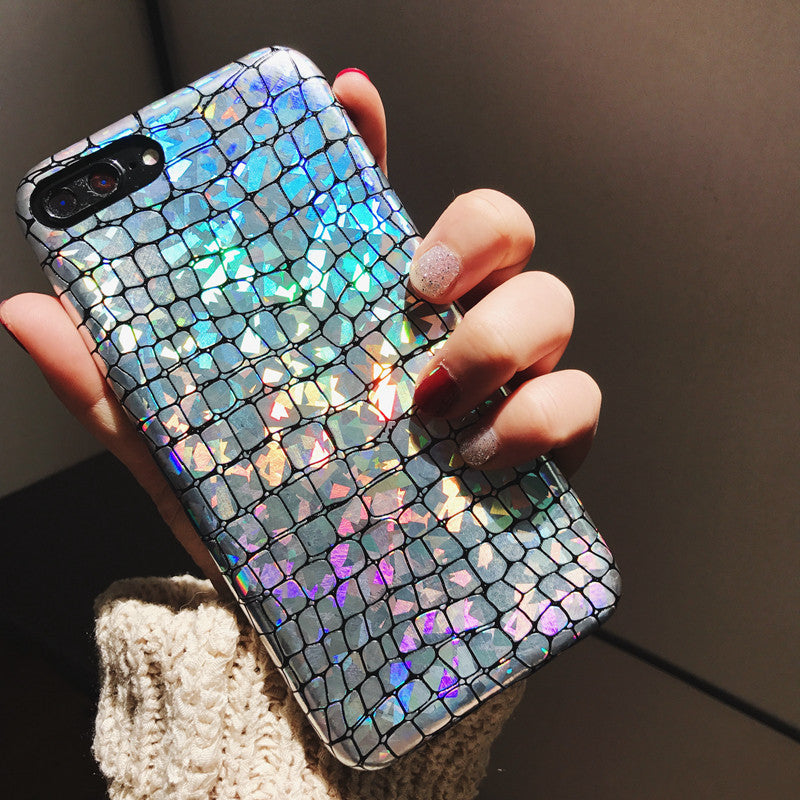 Luxury Glitter Snake texture Phone Cases For Apple iPhone 6 6S 7 7Plus Case Fashion Soft PU Leather Back Cover Mobile Phone Bags