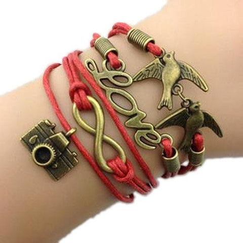 Red Love Birds Bracelet
