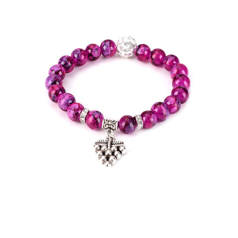 Grape Bead Yoga Bracelet