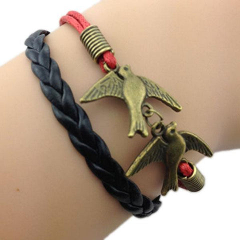 Love Birds Black & Red Bracelet