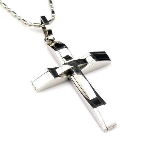 Men's Steel Cross Pendant