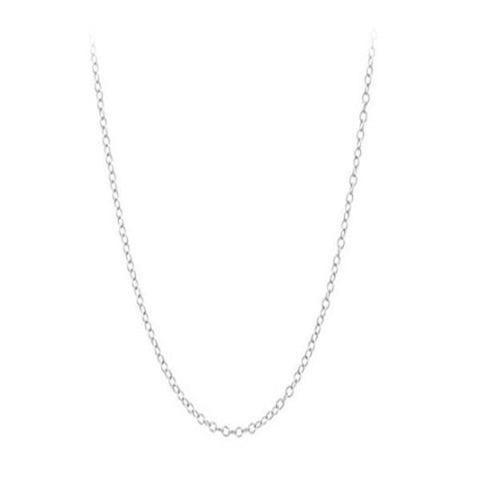 "Silver 18"" Cable Chain"