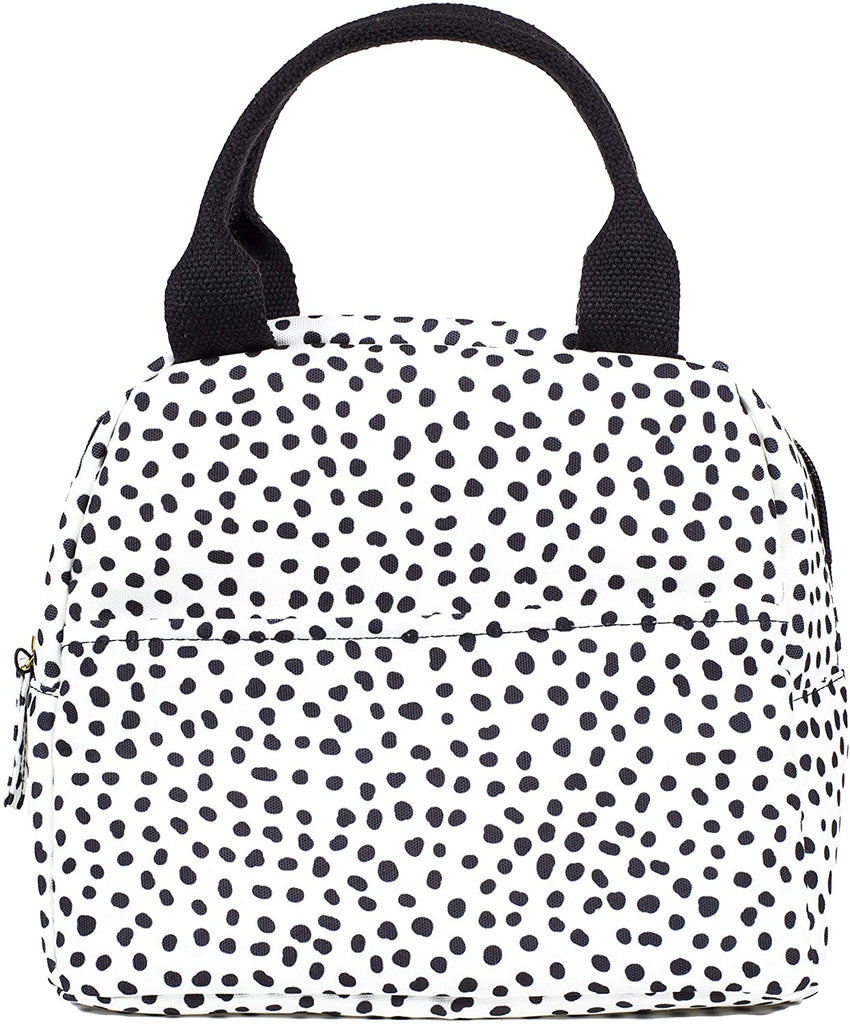 Steel Mill & Co. Small Lunch Tote, Black Dot