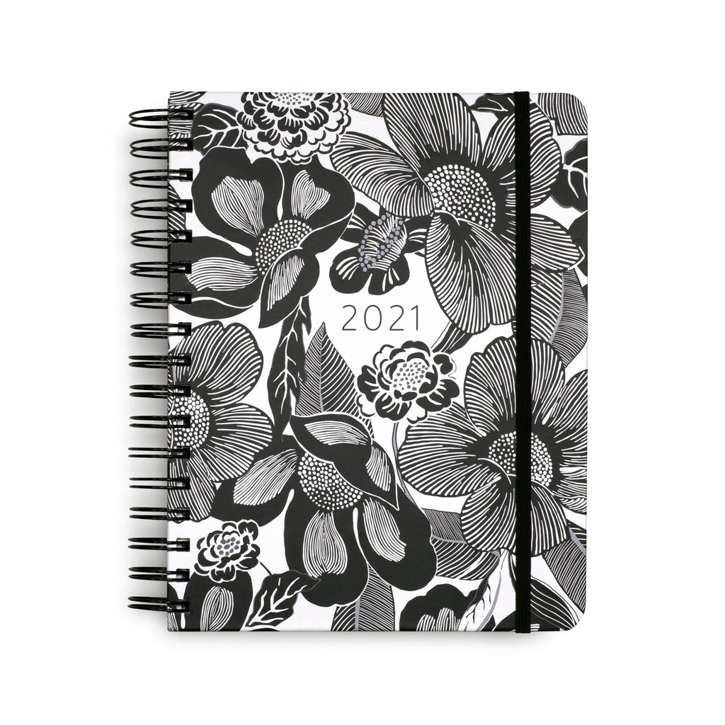 Vera Bradley 12 Month Large Planner, Bedford Blooms White