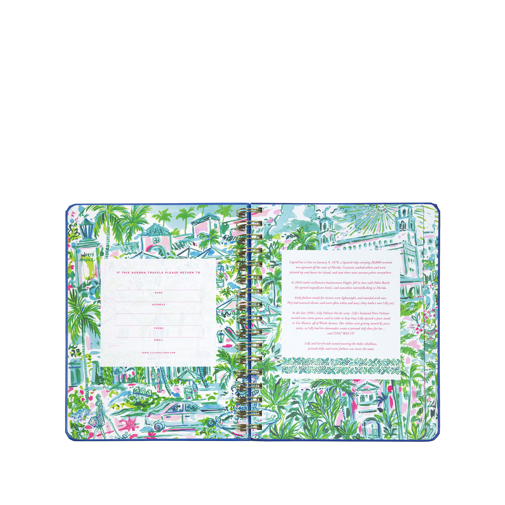 2020-2021 Lilly Pulitzer 17 Month Large Agenda, Reel Nauti
