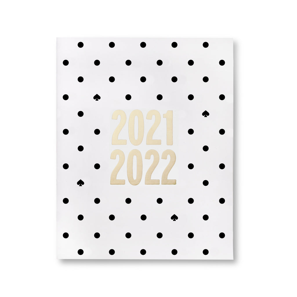 Kate Spade New York 17 Month Monthly Planner, Black Spade Dot