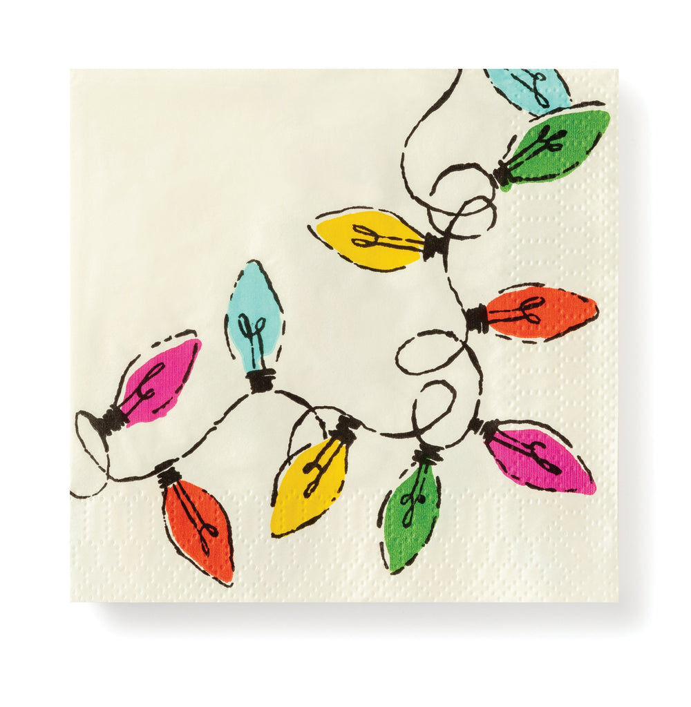 kate spade new york holiday paper napkins, lights