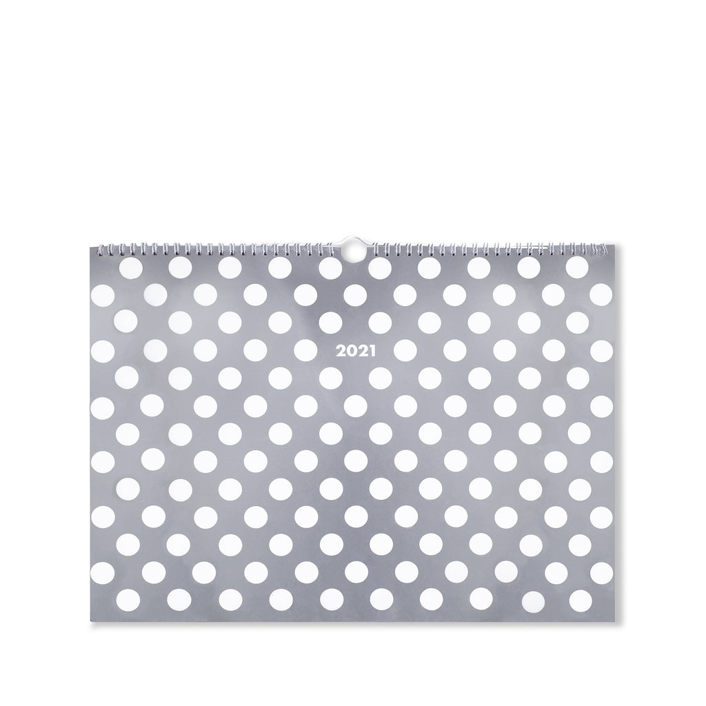 kate spade new york appointment wall calendar, white dot
