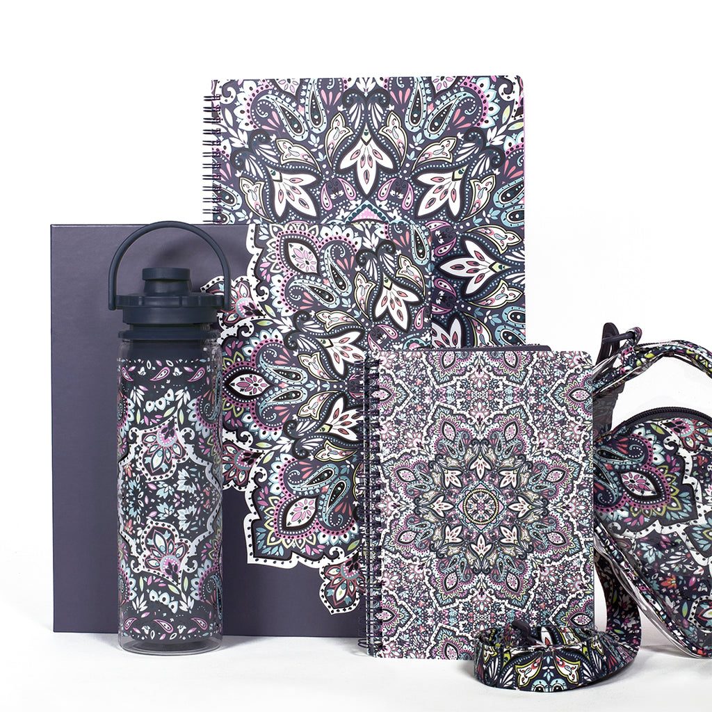 Vera Bradley Sport Water Bottle, Bonbon Medallion