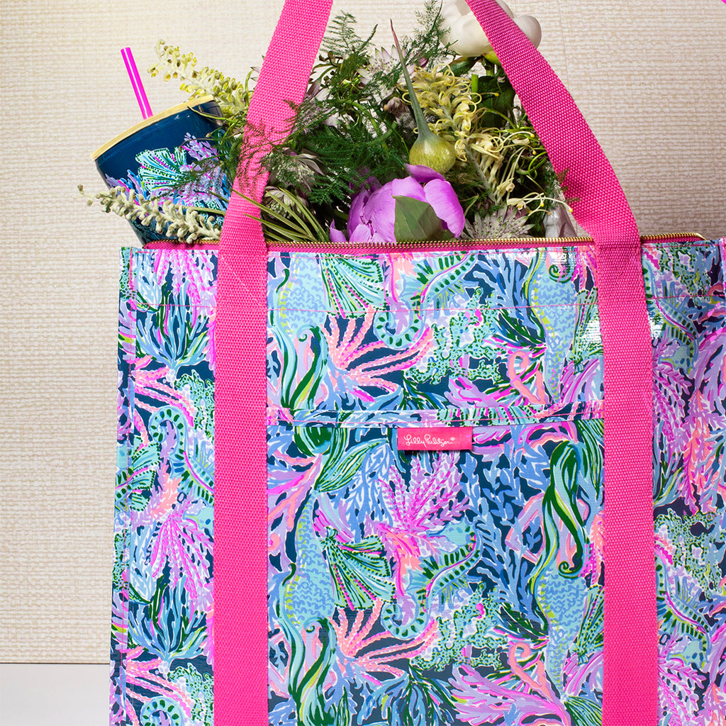 Lilly Pulitzer Insulated Market Shopper, Bringing Mermaid Back