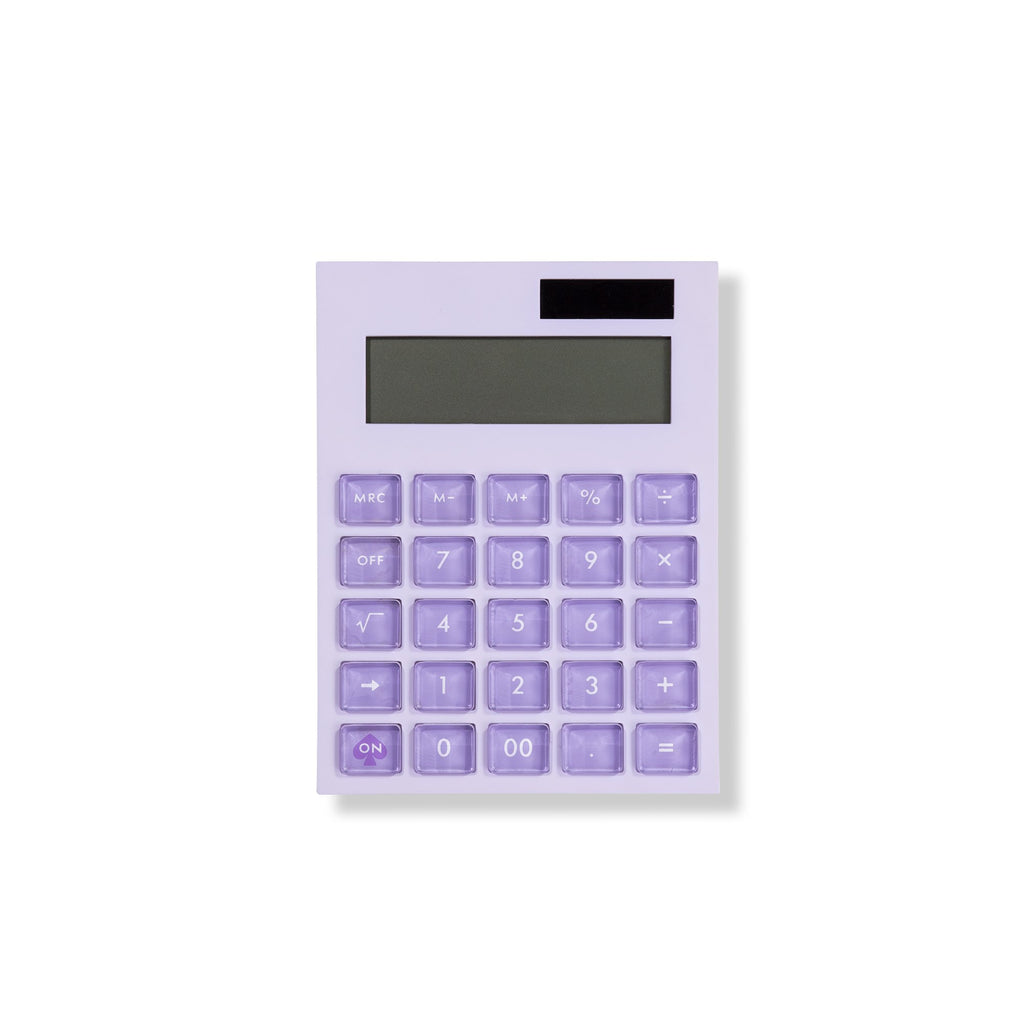 kate spade new york calculator, color block, lilac