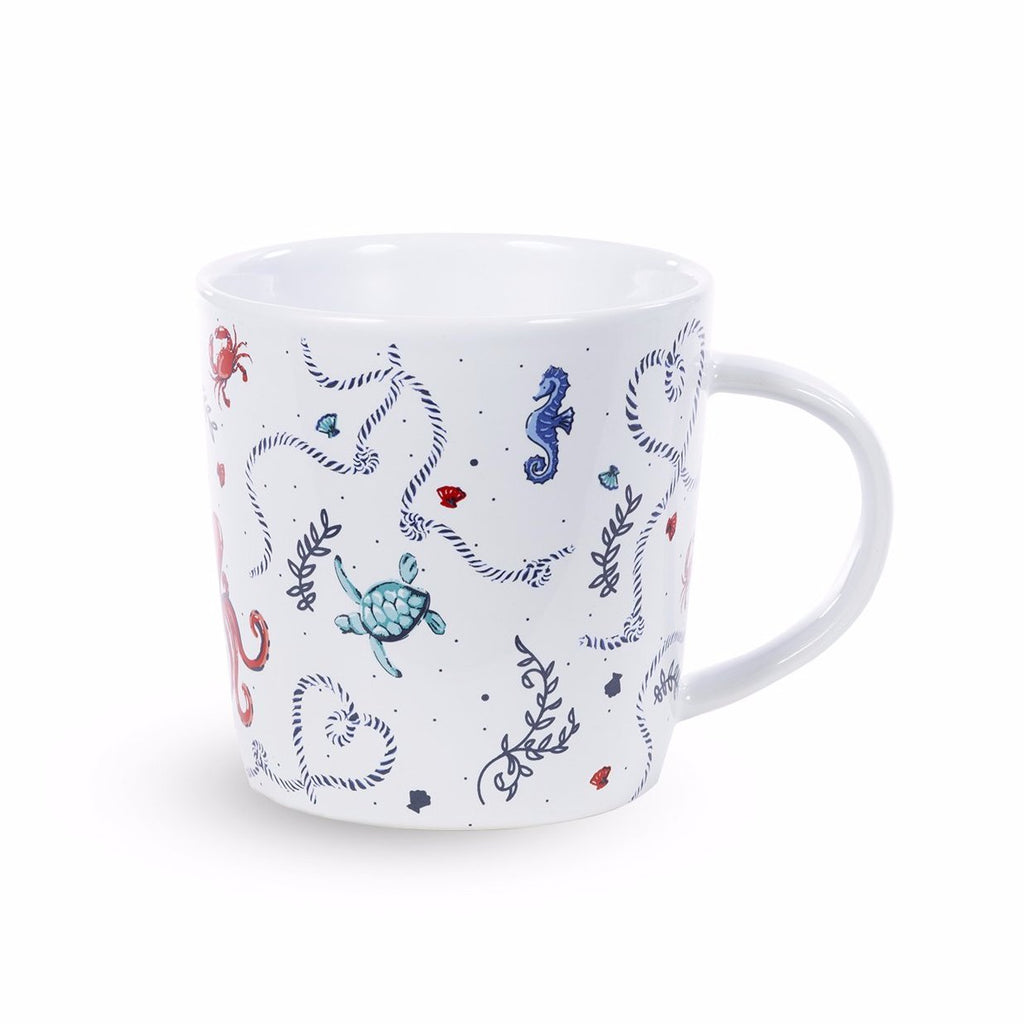 vera bradley ceramic coffee mug, sea life